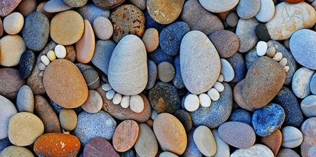 Hiasan rumah dari batu kali