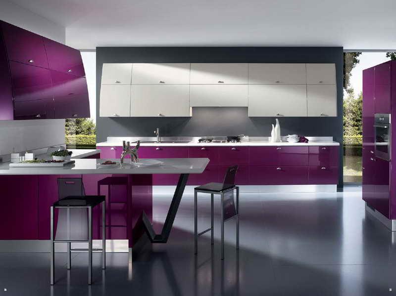 Membuat Dapur Rumah Elegan Dengan Aksen Ungu