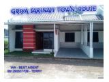 Griya Sakina Town HOuse Bisa KPR Bank dan CIcil Developer Flat 5 Tahun Ready Stock