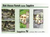 Rumah 2 lantai di Cluster Sapphire Pondok Hijau Golf Tangerang